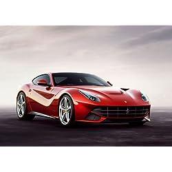 Ferrari poster F12 Berlinetta - Rotes Auto - Sportwagen - A3 Film Movie poster - Druck - Bild - art