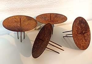 landgef hl 4er set kerzent lle kerzenhalter aus metall in. Black Bedroom Furniture Sets. Home Design Ideas