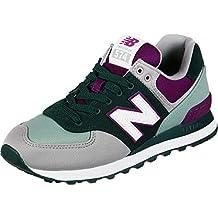 4e23096822e Nueva Balance WL574 NBN Gris Rosa Zapatos Mujer Cordones de Las Zapatillas  de Deporte