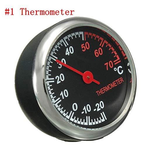 Preisvergleich Produktbild JenNiFer Mechanik-Thermometer-Hygrometer-Uhr-Stahlkern-Zeiger Für Automotor - 1