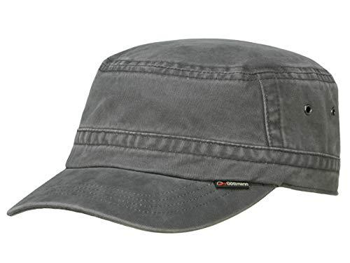 Göttmann Santiago Army Cap mit UV-Schutz aus Baumwolle - Anthrazit (18) - 59 cm