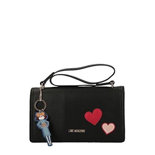Love Moschino Girls & Heart Schultertasche schwarz