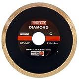 Diamantscheibe / Glattkantschneider für Winkelschleifer, glatt, hochwertige Qualität, für Ziegel-Betonstein, Dachpfannen, Hohlziegel, Pflastersteine, Waschbeton, Granit-Marmor, Steingutrohre, Klinker, 3 Stück, Bohrung: 125mm x 22,2mm