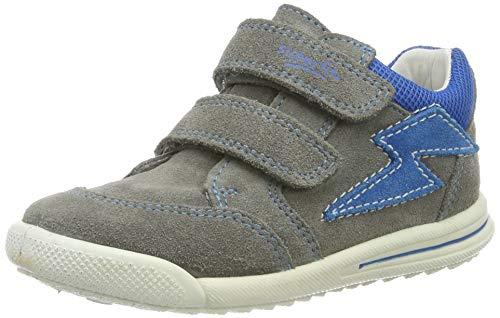 Superfit Baby Jungen Avrile Mini Sneaker, Grau (Hellgrau/Blau 25), 19 EU