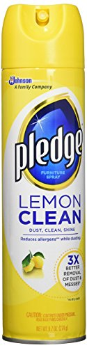 Pledge Dracb723725Ct Lemon Clean Furniture Spray - 9.7 Oz(Pack Of 1)