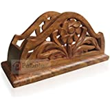 PEBBLE CRAFTS Napkin Rack( Carved) Holder Table Tissue Box Paper Wooden Car Home Decor Gift Item House