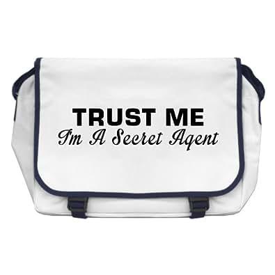 Trust Me I'm A Secret Agent Messenger Bag - White