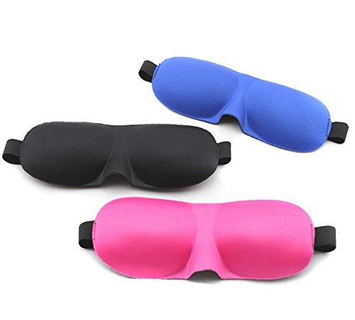 Sleep Speedo leichter 3D-Soft bequemer Verstellbarer Kopf Gurt Augenmaske Augenklappe mit konturierte Form für Reise Taucherbrille Schichtarbeit