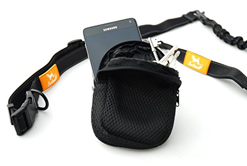 Barkswell Hands Free Running Dog Lead - Dog Walking Belt Reflective with Double Sided Lined Pouch - Up to 60 Kg - Great for Handsfree Running, Jogging or Walking ... 4