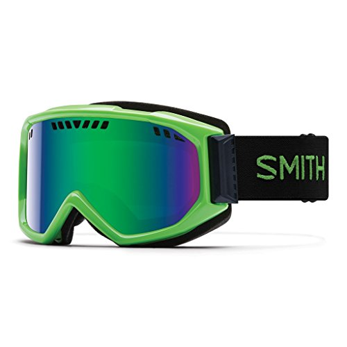 Smith Scope PRO Skibrille, Sol-X Mirror/Reactor grün/Schwarz, One Size