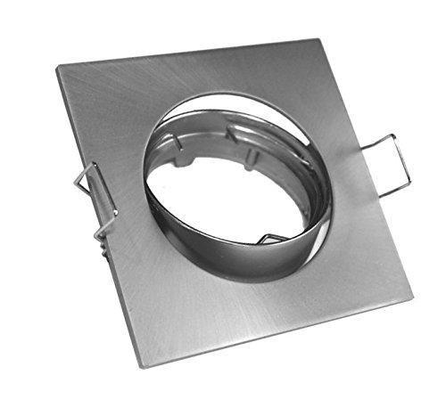 Aro, quadratisch Nickel matt schwenkbar GU10enthalten