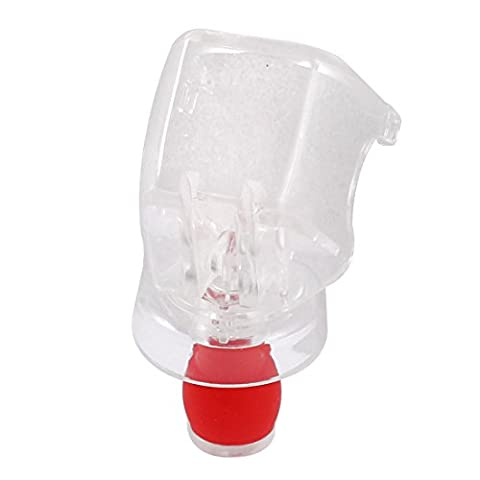 sourcingmap® Champagne Wine Liquor Storage Bottle Stopper Cap Plug Sealer Red Clear