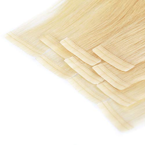 Tape In Extensions 40 cm Virgin Echthaar 10er Set Hellblond