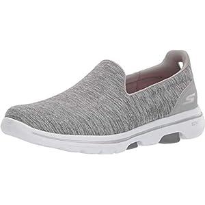 Skechers Women's GO Walk 5-Honor Trainers, Grey (Gray Textile/Trim Gry), 5 (38 EU)