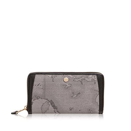 Alviero Martini 1A Classe wallet zip around Geo Dark Night grey