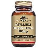 Solgar Psyllium Husks Fiber 500 mg Vegetable Capsules - Pack of 200