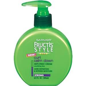 Garnier Fructis Style Curl Calm Down Anti-Frizz Cream, Strong Hold, 6 Fluid Ounce