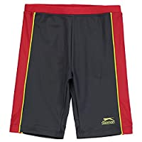 Slazenger Swimming Jammers Junior Charcoal/Red 13 (XLB)