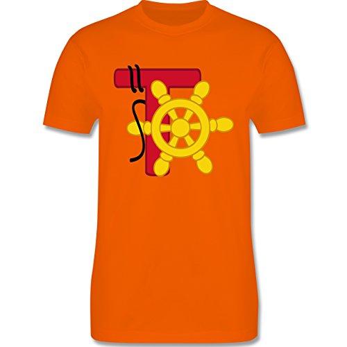 Anfangsbuchstaben - T Schifffahrt - Herren Premium T-Shirt Orange