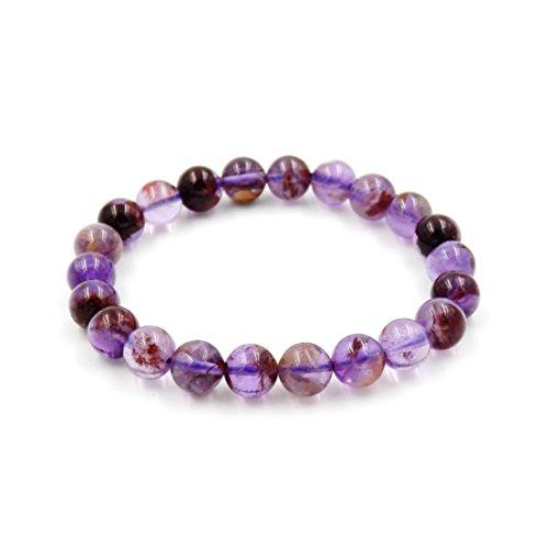 preziosa gemma tratto braccialetto, 100% naturale aaa. (fanton quarzo 8mm)
