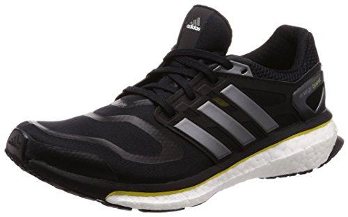 adidas Energy Boost, Herren Laufschuhe, Schwarz (Black1/Neirme/Vivyel 000), 43 1/3 EU (9 UK)