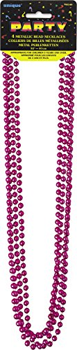 Unique Party Supplies Metall-Perlenketten, 4Stück