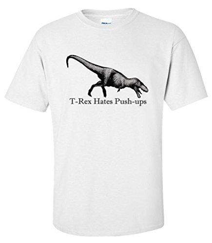T-rex Hates Push-ups Maglietta Uomo XX-Large