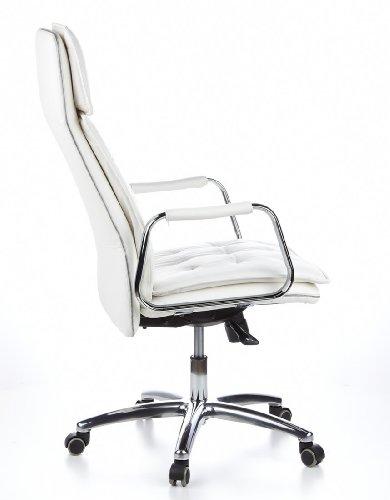 HJH OFFICE 600922 Bürostuhl / Chefsessel VILLA 20 Nappaleder elfenbein - 4