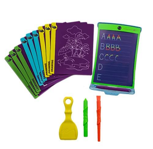kizze Farbe LCD Schreiben Tablet + 4 verschiedene Stylus und 18 Schablonen für Zeichnung, Schreiben, und Tracing eWriter Alter 3+ ()