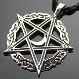 Pentagramm Amulett Der Mond Keltischer Pentagramm Stern Zinn Anhänger mit 50,8cm Collier