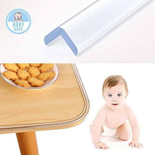 Wemk 6.1 M Protection de Table Transparent - 1 Rouleaux et Autocollant Adhésif Supplémentaire - Protecteur pour les bebes et enfants contre les chutes, collisions sur la table ou mobilier
