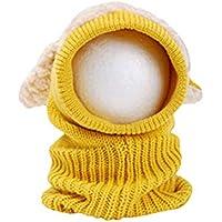 BESTOYARD Winter Baby Kinder Mädchen Jungen Warme Coif Hood Schal Caps Hut Hund Design Gestrickte Wolle Schals