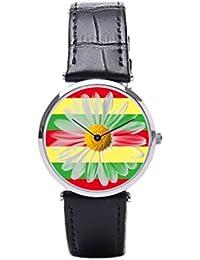 f80b82d4f61e Sueño etapa raras banda de piel Para Hombre Relojes Relojes correa de cuero  Reggae