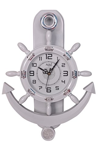 Altra Plastic Pendulum Wall Clock (45 cm x 30 cm x 5 cm, White) Altra Plastic Pendulum Wall Clock (45 cm x 30 cm x 5 cm, White) 41pRJUFE5nL