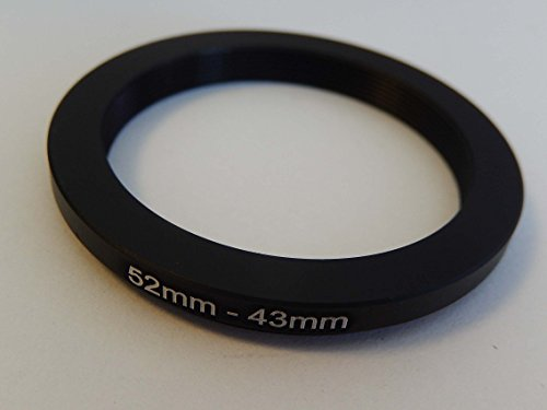 vhbw Step Down Adapter Ring Filteradapter 52mm-43mm schwarz für Kamera Panasonic, Pentax, Ricoh, Samsung, Sigma, Sony, Tamron 52mm Step Down Ring-adapter