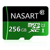 Carte Micro SD Haute Vitesse Classe 10,Carte Micro SD SDXC avec adaptateur 256 Go