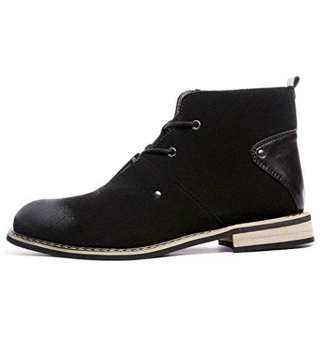 Heart&M cuir de Suède masculine coupe-haut bout pointu chaussures bottes Martin Black