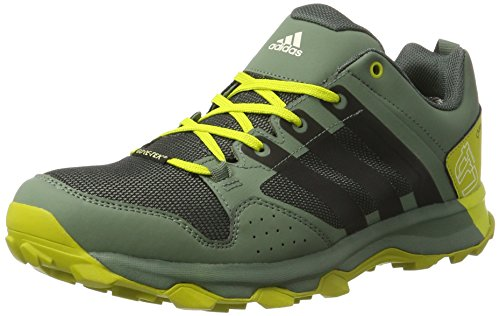 adidas Kanadia 7 Tr Gtx, Zapatillas de Running Para Asfalto Hombre, Verde (Utility Ivy/Core Black/Unity Lime), 46 2/3 EU