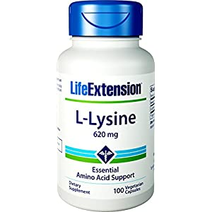 41pRNLGGO4L. SS300  - Life Extension L Lysine, 620Mg, 100Veg Capsules