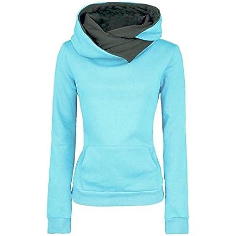 Coversolate Pullover capa de las mujeres de manga larga con capucha suéter de algodón con capucha