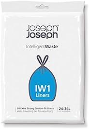 Joseph Joseph IW1 allmänna Avfallspåsar, Paket med 20, Svart, 24-36 liter