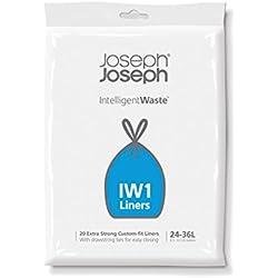 Joseph Joseph Custom-Fit Müllbeutel für die perfekte Passform 36l, transparent