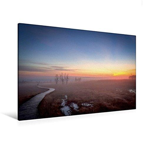 Premium Textil-Leinwand 120 cm x 80 cm quer, Ein Motiv aus dem Kalender Das Hohe Venn   Wandbild, Bild auf Keilrahmen, Fertigbild auf echter Leinwand, Leinwanddruck (CALVENDO Natur)