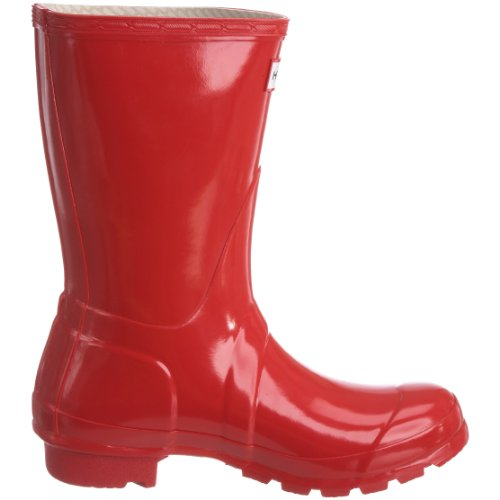 Hunter Original Short Gloss W23700 Unisex-Erwachsene Gummistiefel Rot (Pillar Box Red)