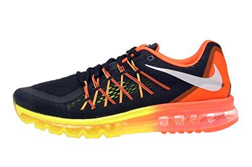 Nike Air Max 2015, Herren Laufschuhe Training Schwarz/Orange/Gelb