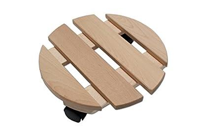 Pflanzenroller Holz MASSIV rund 30 cm bis 120 KG von KYNAST - Du und dein Garten