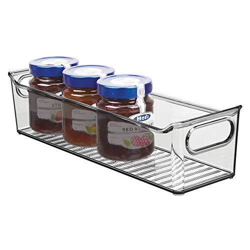 Mdesign contenitore per frigorifero - contenitore per alimenti freschi o confezionati - ideale come contenitore frigo o per mobili cucina e dispensa - grigio fumo