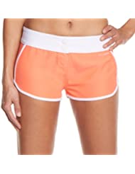 Billabong - Boxer de natación para mujer, tamaño M, color naranja