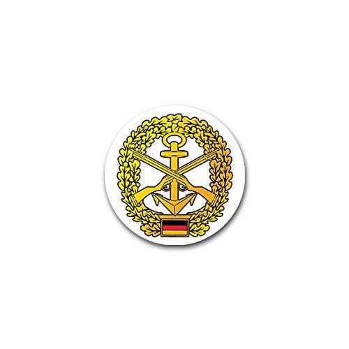 Copytec Aufkleber/Sticker -Marinesicherung Marineschutzkräfte MSK deutsche Marine Barettabzeichen Infanterie Deutschland Bundeswehr Fahne Flagge Wappen Abzeichen Emblem 7x7cm #A2402 -