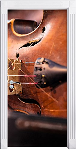 vecchio-violino-come-murale-formato-200x90cm-telaio-della-porta-adesivi-porta-porta-decorazione-auto